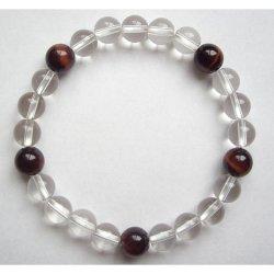画像2: 数珠ブレスレット・水晶紅虎目・親玉8ミリ 送料無料;仏壇供養に便利グッズ