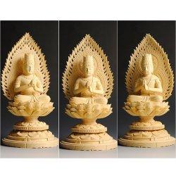 画像3: 【仏像】高級上彫り・真言宗大日如来・檜丸台火炎光背・2.0寸