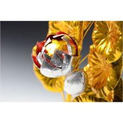画像2: お盆用品【高級 盆花(ぼんばな)銀:豪華な五輪仕立】1対2本入り お盆・新盆・初盆 仏具 仏花