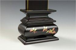 画像5: モダンで美しい面粉唐木位牌【蒔絵位牌:南天 黒檀3.0寸】仏壇 送料無料
