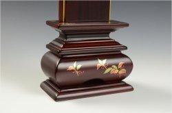 画像5: モダンで美しい面粉唐木位牌【蒔絵位牌:南天 紫檀3.0寸】仏壇 送料無料
