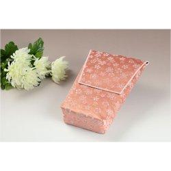 画像2: 【桜舞う刺繍入り 御位牌入:花筏(はないかだ) ピンク】携帯用位牌袋 仏具 ネコポス送料無料