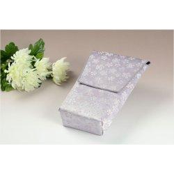 画像2: 【桜舞う刺繍入り 御位牌入:花筏(はないかだ) 薄紫】携帯用位牌袋 仏具 ネコポス送料無料