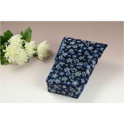 画像2: 【桜舞う刺繍入り 御位牌入:花筏(はないかだ) 濃紺】携帯用位牌袋 仏具 ネコポス送料無料