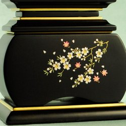 画像4: モダン唐木位牌・黒檀タイプ・風桜4.0寸・送料無料