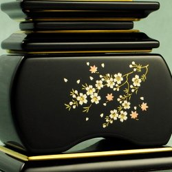 画像4: モダン蒔絵位牌・塗りタイプ・風桜5.0寸・送料無料