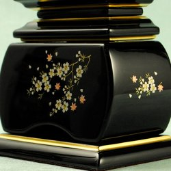 画像5: モダン蒔絵位牌・塗りタイプ・風桜4.0寸・送料無料