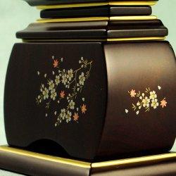画像5: モダン唐木位牌・紫檀タイプ・風桜5.0寸・送料無料