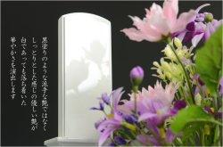画像5: モダンな現代調位牌【蒔絵位牌:南天(なんてん)-美白-4.0寸】送料無料