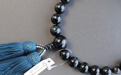 画像2: 仏壇供養に不可欠:京都数珠製造卸組合・男性用・青虎目石・正絹頭房付