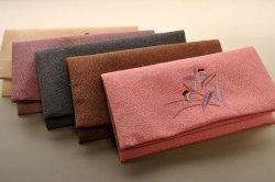 画像1: 仏壇供養に便利::数珠袋・刺繍タイプ・五種類中の露草/ピンク